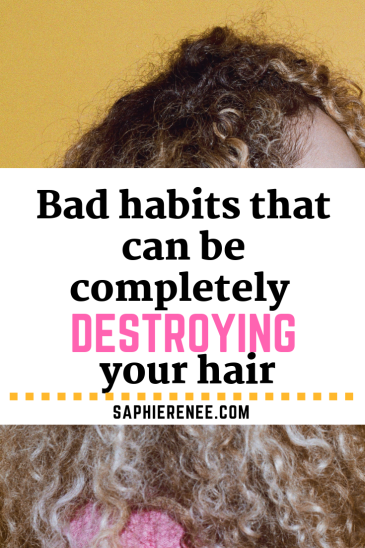 Bad Habits that Can Completely Destroy Curly Hair